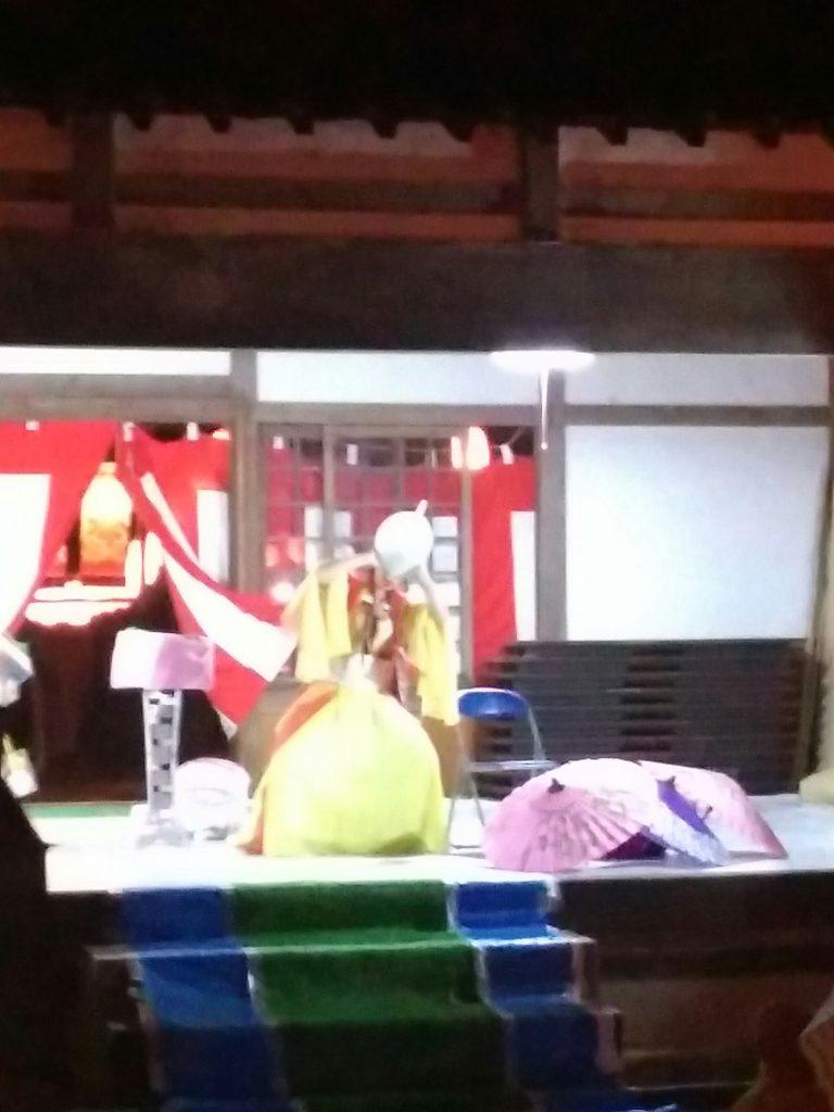松本・諏訪神社のお祭りでマジック